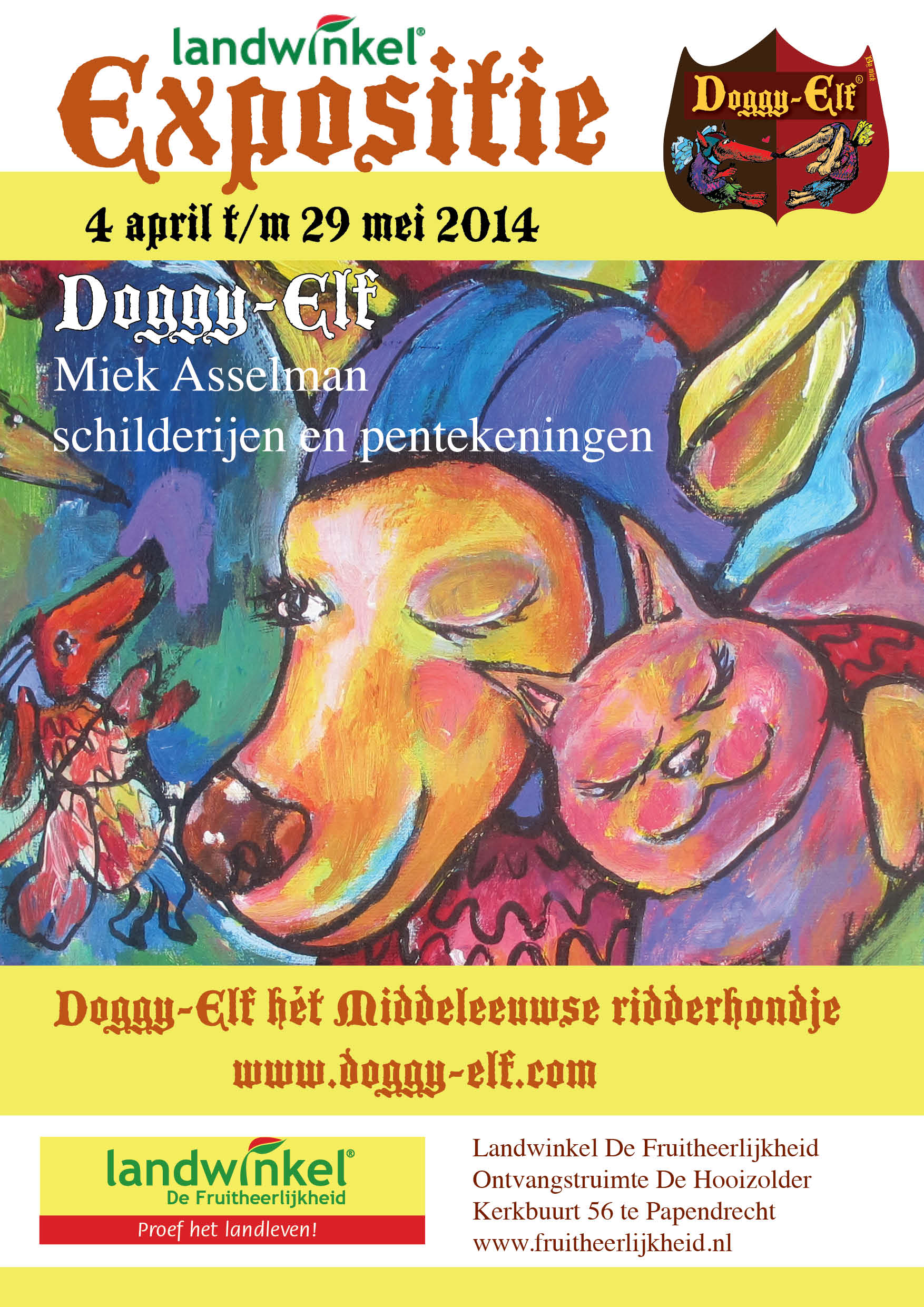 poster expositie Doggy-Elf