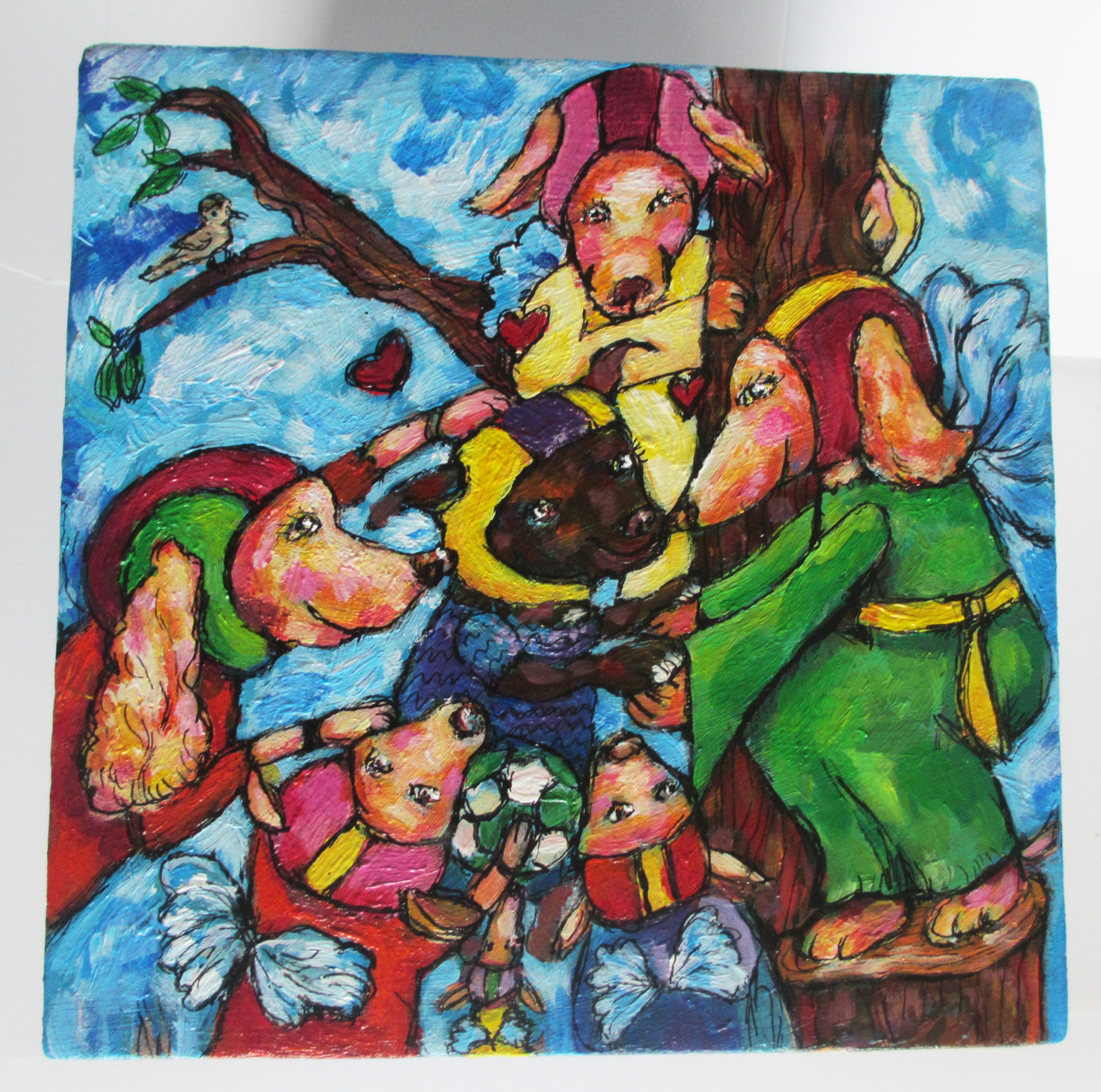 Doggy-Elf schildering voor lieve Spike